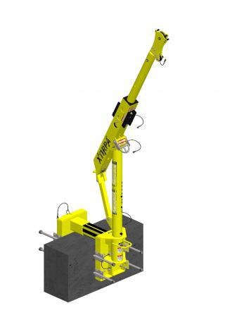Xtirpa™ Davit-Arm,Mast and removable Adapter System for PPE