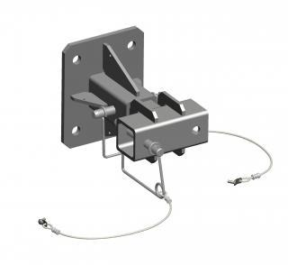 Universal wall adapter for hitch mount (zinc plated)