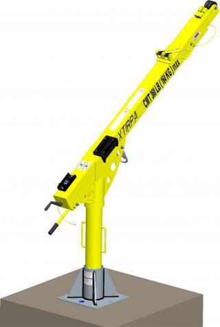 "XtIRPA™ 60"" to 96"" (1524mm-2439mm) Extendable Fall Protection & Retrieval Davit Arm for PPE"