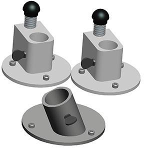 Spiked Feet For Manhole Guard (1 Kit)